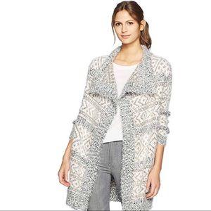 BB Dakota Fuzzy Pattern Sweater Cardigan